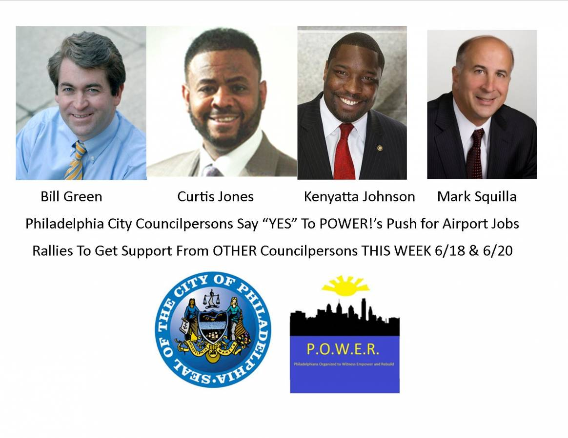 POWER Push For Airport Jobs Intensifies This Week