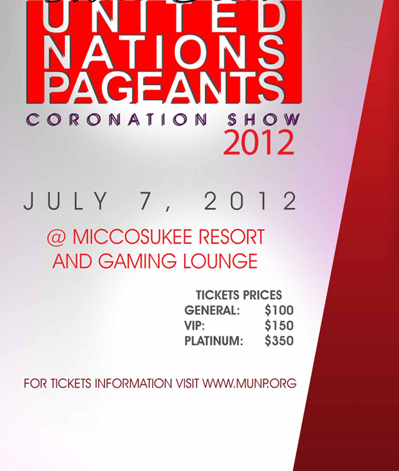 United Nations Pageant 2012 Information