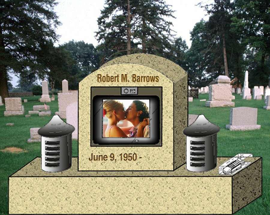 Illustration of The Video Enhanced Gravemarker (U.S. Patent #7,089,495)
