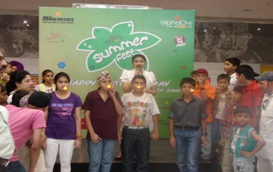 Kids engaged in fun activities during Father's Day