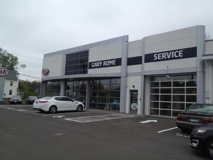 The New Facade of Gary Rome Kia in Enfield, CT