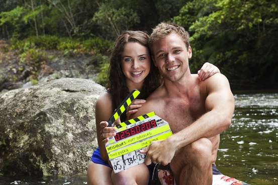 Neighbours stars Ashley Brewer and Linc Lewis