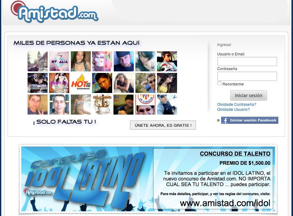 "Amistad.com's ""Idol Latin"""