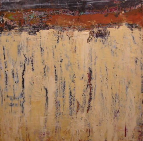 barque (cold wax on canvas, 2011)