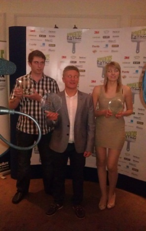 Lucy Porter with the other Winners