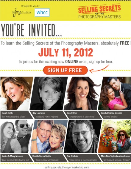 Selling Secrets Revealed: Free online event for photographers.