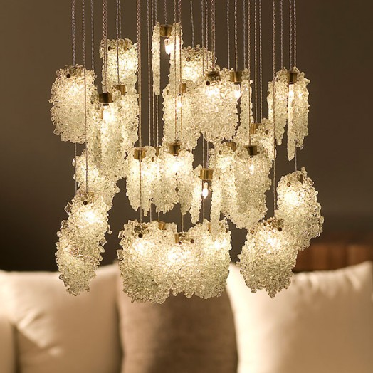 Light in Art Quartz Crystal Chandelier Halogen