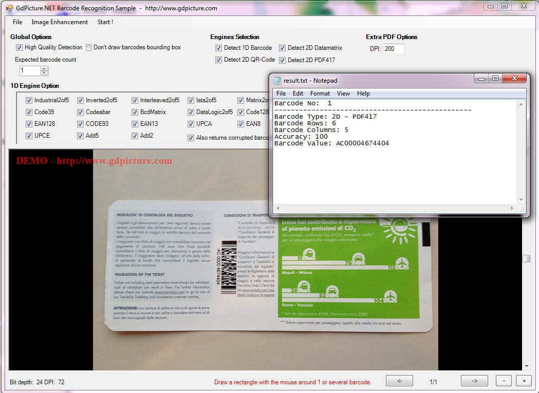 pdf417-recognition-screenshot