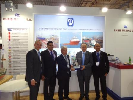 COLOMBO DOCKYARD TEAM AT POSIDONIA 2012