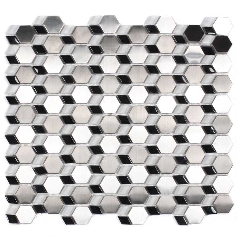 New Stainless Steel and Glass Mosaic