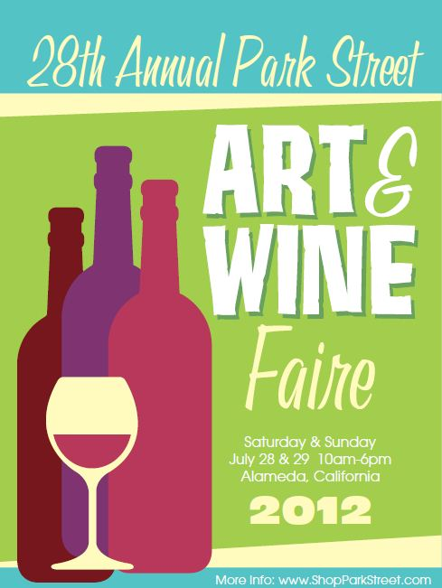 2012 Park Street Art & Wine Faire poster
