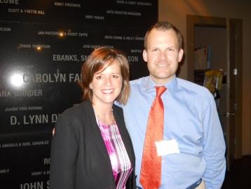 Attorney Ann Johnson and Artist John Ross Palmer