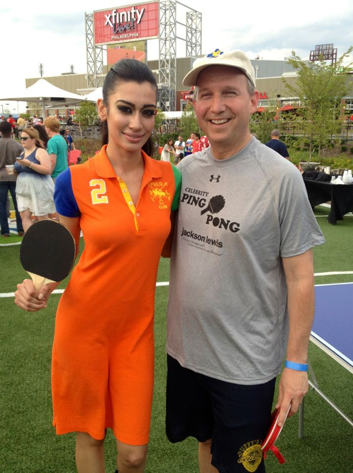 Supermodel Farah Zulaikha and Governor Jack Markell (D) at XFINITY! LIVE