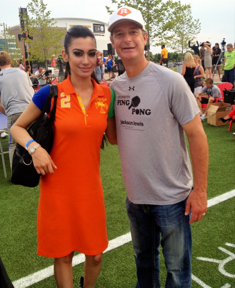 Supermodel Farah Zulaikha and MLB World Series Pitcher Jamie Moyer