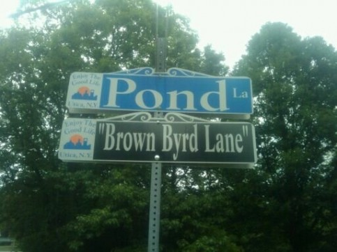 BrownByrd Lane Street Naming