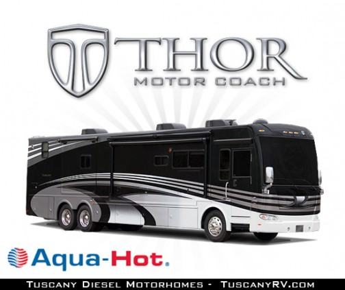 Diesel Motorhomes Aqua Hot Luxury Class A RV Tuscany