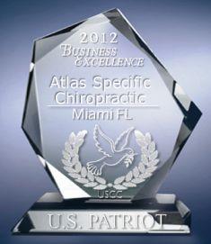 U.S.C.C. PATRIOT AWARD Atlas Specific Chiropractic