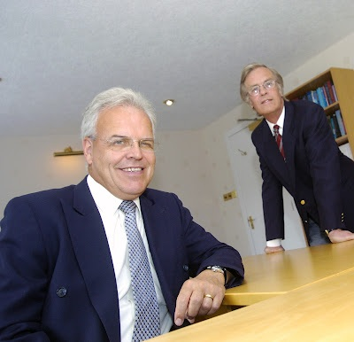 Elite Ayrshire Business Circle directors Norman Geddes and Murdoch MacDonald.