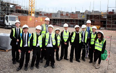 St Annes High School visit Heaton Chapel developme