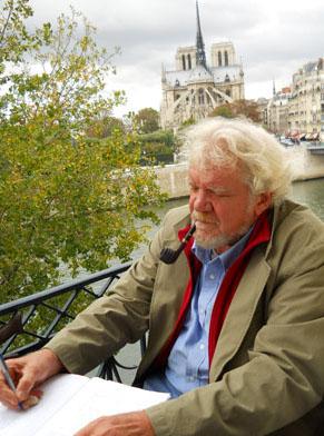 H.R. Stoneback at work in Paris.