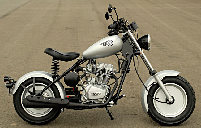 A Custom Silver CSC Motorcycle