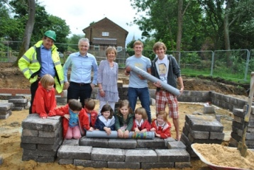 Dunannie children bury their time capsule