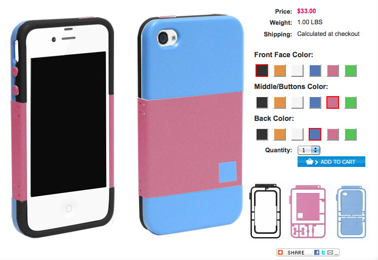 KitCaseUSA.com iPhone Case Color Chooser