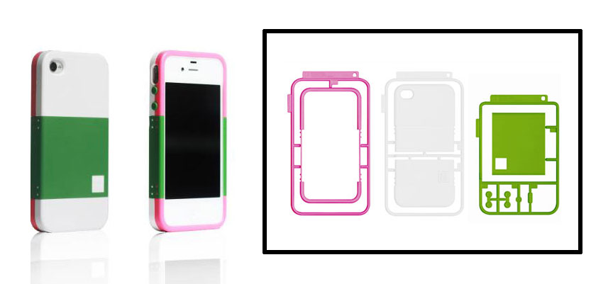 Pink, Green & Orange iPhone 4/4S Case