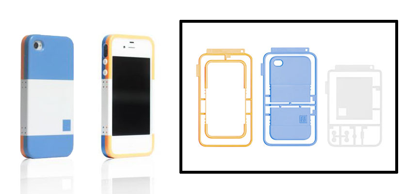 White, Blue & Orange iPhone 4/4S Case
