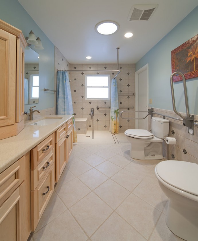 A special company to do special needs construction bathrooms shells only complete home for Bathroom construction