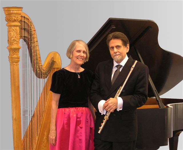 """""""2"""" (Peter H. Bloom, flutes; Mary Jane Rupert, piano & harp)"""