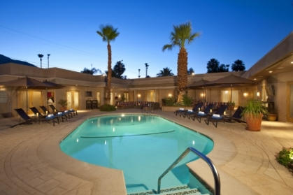 Relax by the pool at Pura Vida Resort Palm Springs