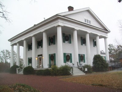 Barrington Hall at Christmas