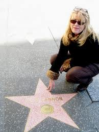 Gillian Lomax at John Lennon's star in Hollywood
