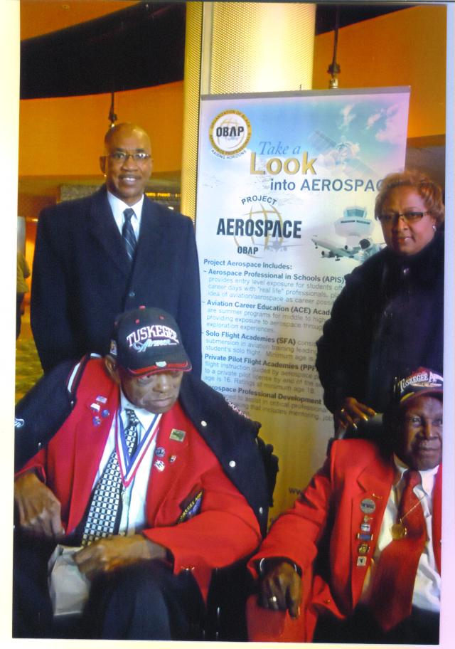 OBAP Cheryl , Albert & Tuskegee Airmen in Dallas R