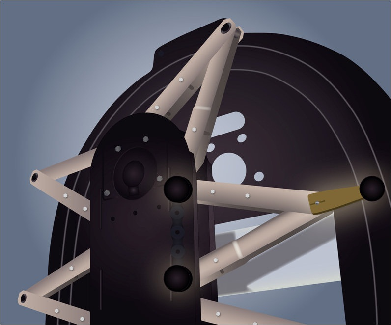New Material Handling No Maintenance Scissor Arm Wheels