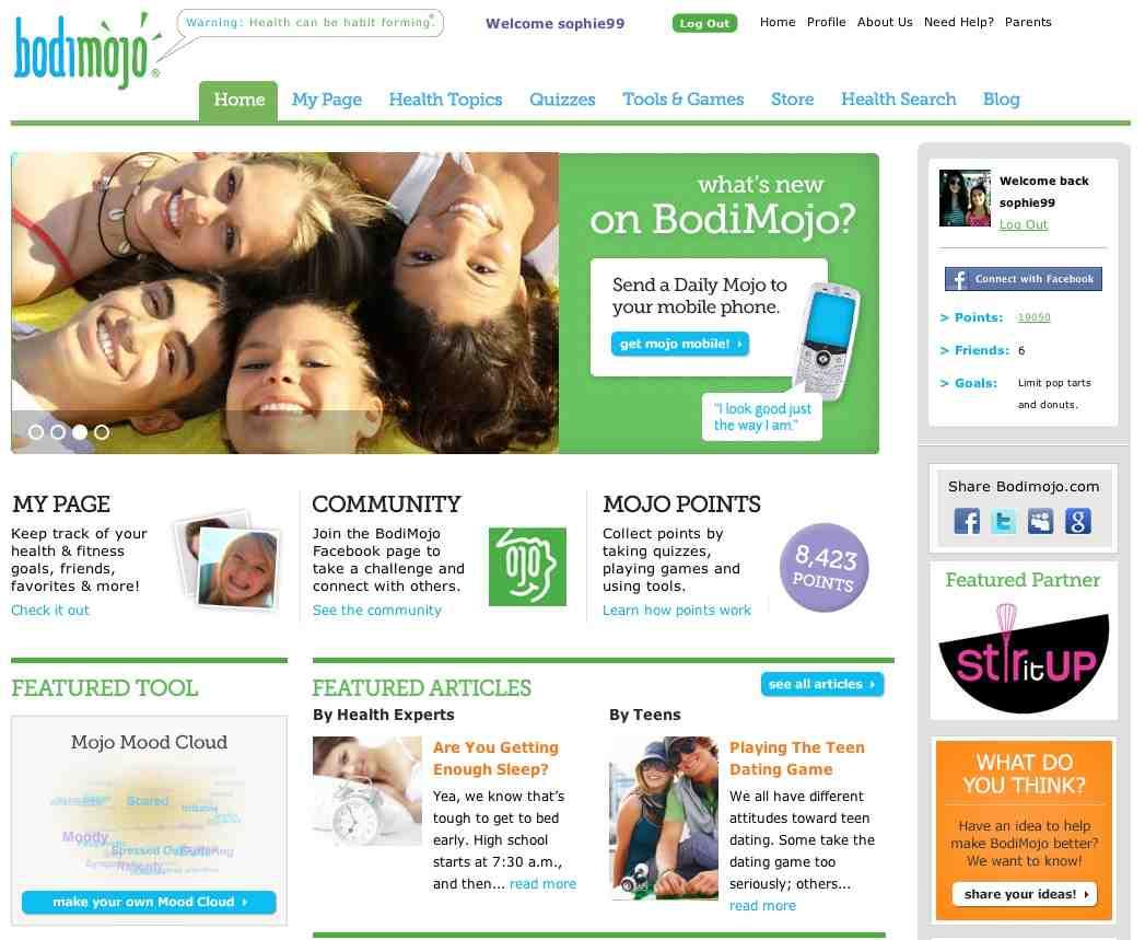 Bodimojo Homepage low resolution