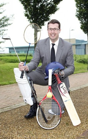 Miller Homes Sales Director Steve McElroy launches the company's summer of sport