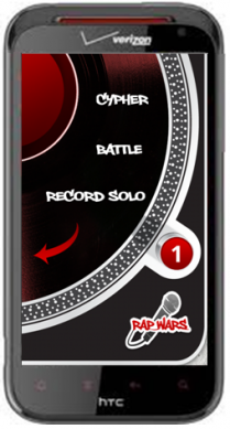 Rap Wars Mobile App Home Screen