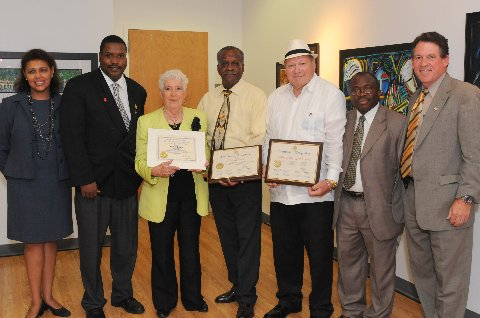Honorees at African American Museum Hub Event