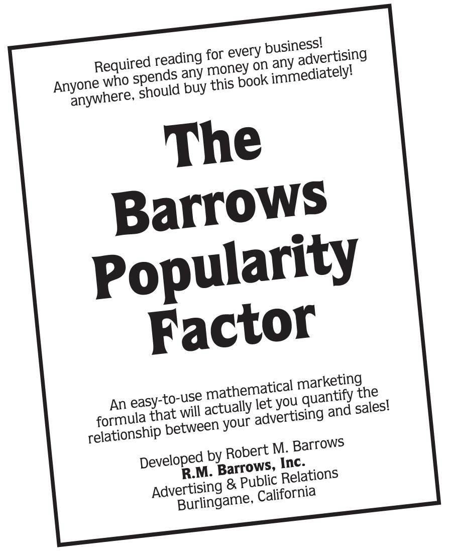 Read it today! You can Download the booklet for only $4.95 at www.barrows.com