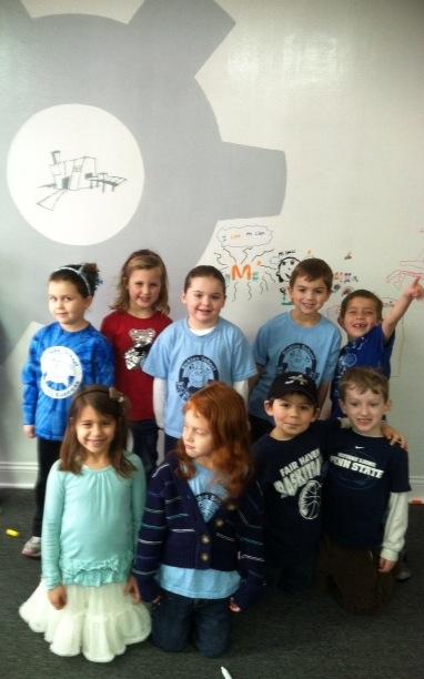 Children in Small Factory's Kindergarten Enrichment Class
