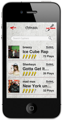 Rap Wars Rap Cypher with Rapper Music iPhone