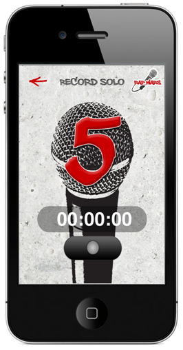 Record Rap iPhone App Countdown