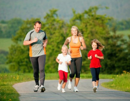 Family Jogging together