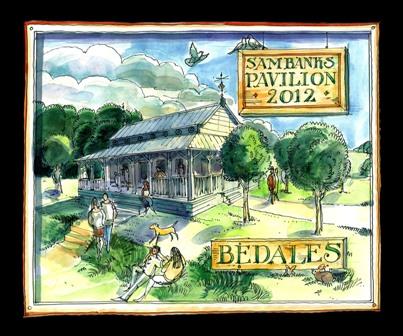 Artist's impression of Sam Banks Sports Pavilion by Matthew Rice, Old Bedalian