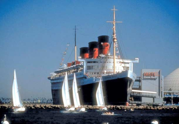 Travelers Can See The Historic Queen Mary Docked in Long Beach