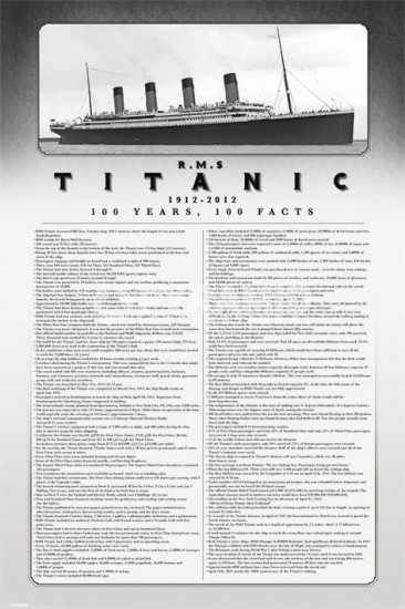 Titanic100Years100FactsPoster
