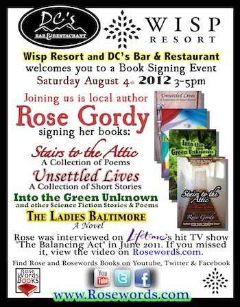 Wisp Book Signing Flyer - Rose Gordy