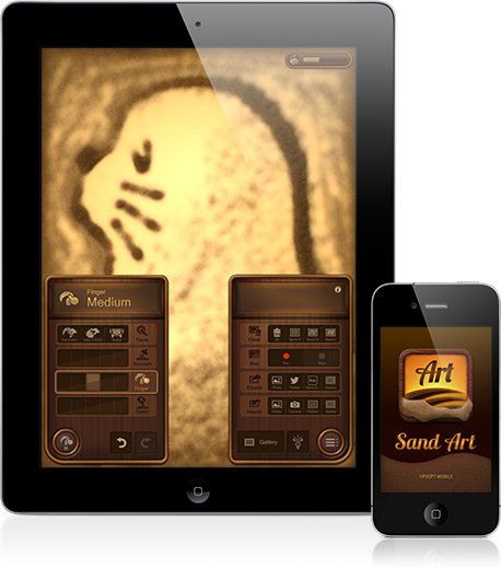Sand Art-Simulator Based Drawing for iPad and iPhone